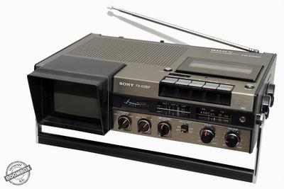 TV - FM/SW/MW receiver cassette corder SONY FX-412E